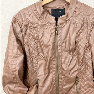 Therapy | Brown Faux Leather Quilted Jacket